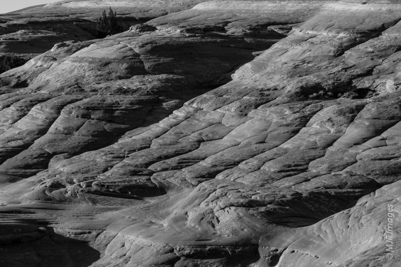 The mountain-biking terrain at Bartlett Wash, Utah.