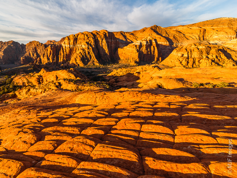 Typical redrock scenery at Snow Canyon State Park in Utah.