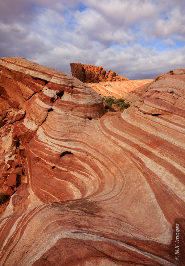 "One of Valley of Fire's more popular photographic subjects, the ""fire wave""."