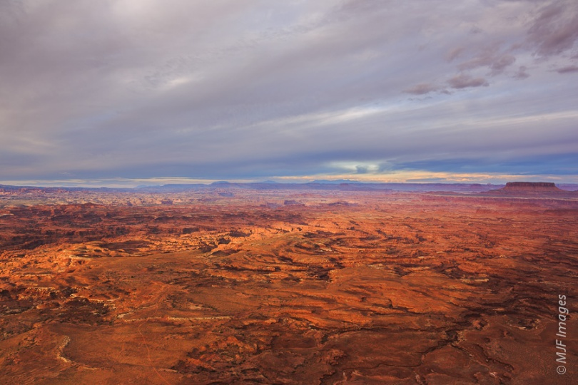 NEEDLES VIEW:  The Needles Overlook in southern Utah affords a view out over the maze of rock and sky that is Canyonlands National Park.