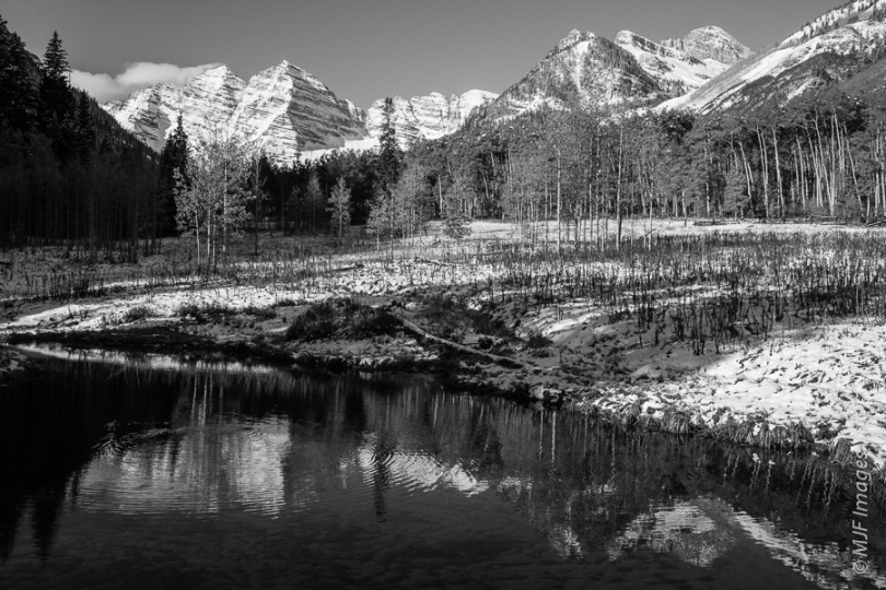 The Maroon Bells of Colorado.