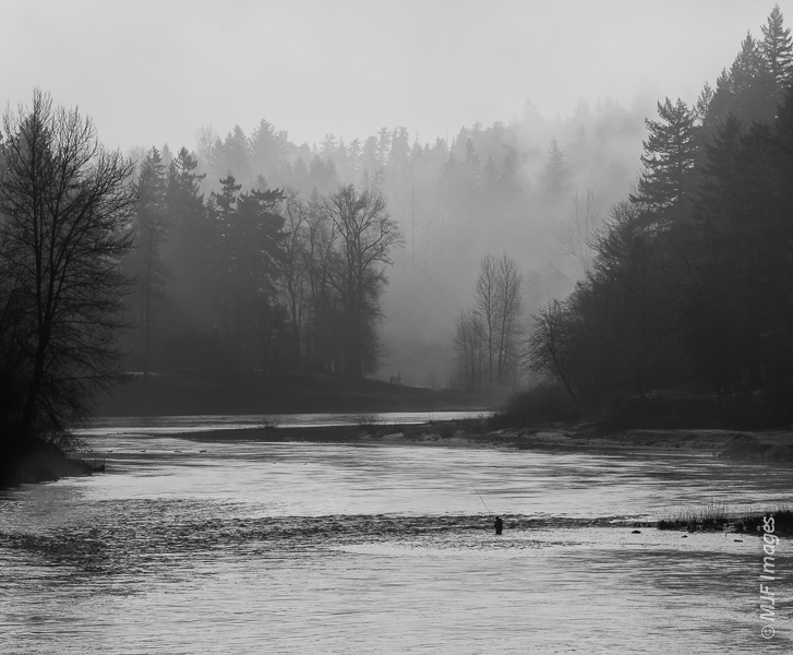 Fishing for winter steelhead is a popular reason to visit the Sandy River near Portland, Oregon.