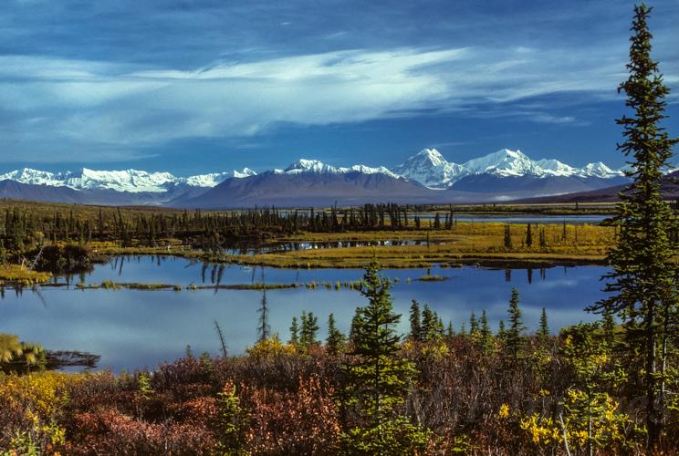 Susitna River Valley & eastern Alaska Range, Alaska.