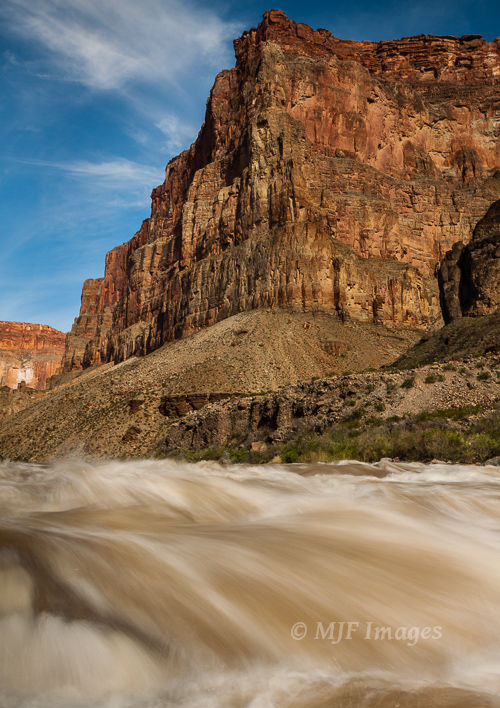 At Lava Falls in the Grand Canyon, the Colorado River carries a lot of sediment, giving it the power to erode some of the largest landscape features on earth.