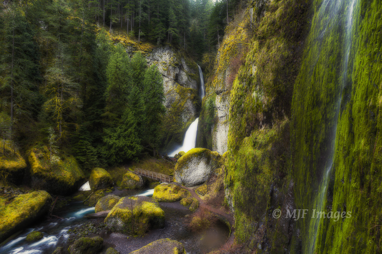 Yesterday I found myself caught in drenching rain at this waterfall in Oregon's Columbia River Gorge.