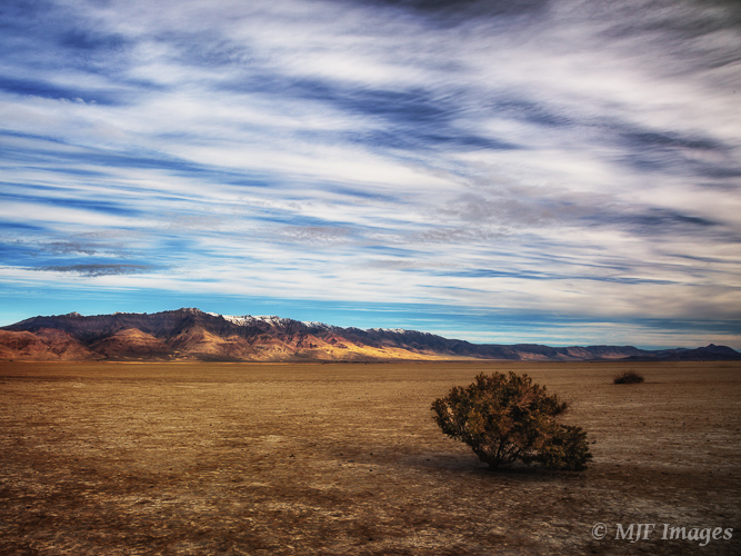 The Alvord Desert, southeastern Oregon.  I used a graduated neutral density filter for this high-contrast scene.