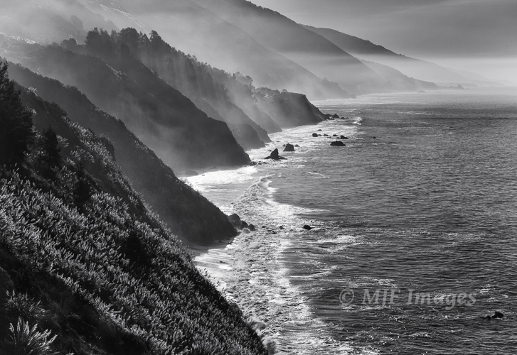 The rugged coastlline at Big Sur, California.