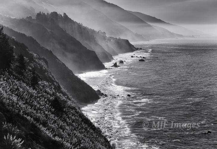 The rugged coastlline at Big Sur, California.