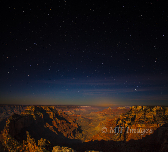 This long exposure starscape from the Grand Canyon would of course had been impossible without my full-size camera.
