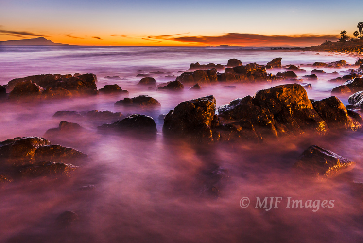 Click on image if interested in it.  The rocky coastline of the northern Baja Peninsula in Mexico is a peaceful place to be at dusk.  30 sec. @f/16, ISO 400.