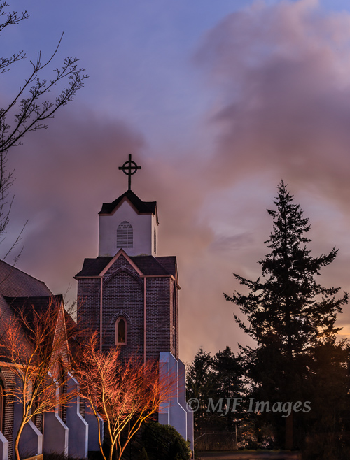A church in the small town of Camas, Washington.