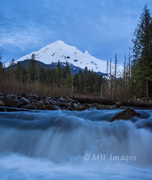 The upper Sandy River on Mount Hood in Oregon.