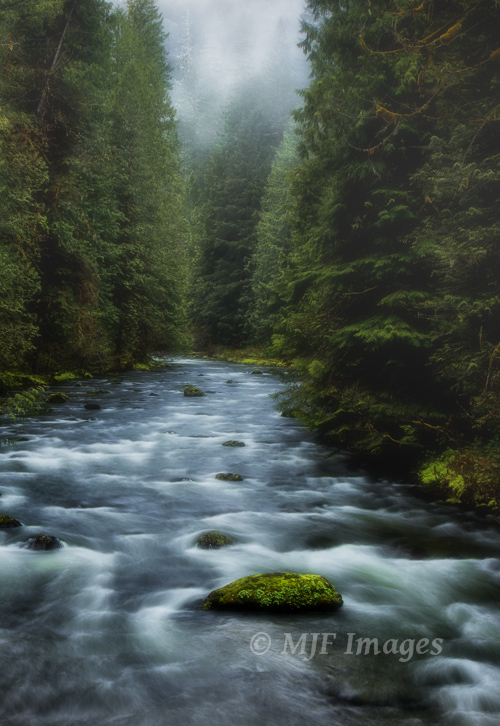 Spring runoff flows down the Salmon River in Oregon.