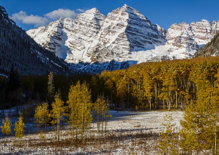 Maroon Bells in Late Fall I