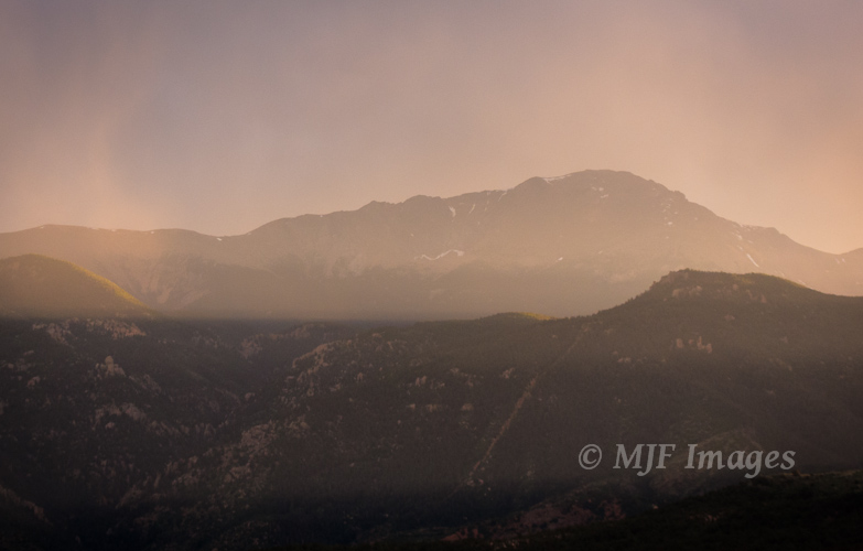 A low-contrast view of Pikes Peak, Colorado.  Add the fact I didn't need great depth of field here, and it's an image my point and shoot can handle.