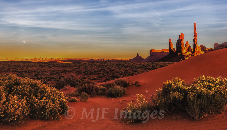 Monument Valley's Totem Poles at sundown.  This shot was all about maximizing depth of field.