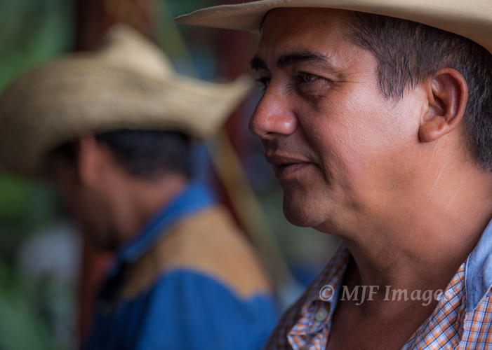 Two Nicaraguan vaqueros, one of whom I wanted to focus on and the other not totally blur out.