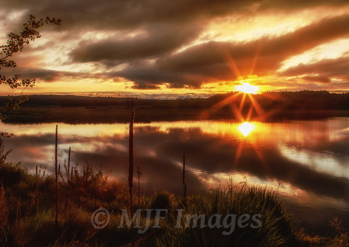 Sunrise over Klamath Marsh, south-central Oregon.