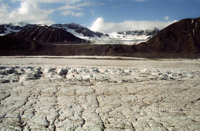 Glacier flying in the Alaska Range.
