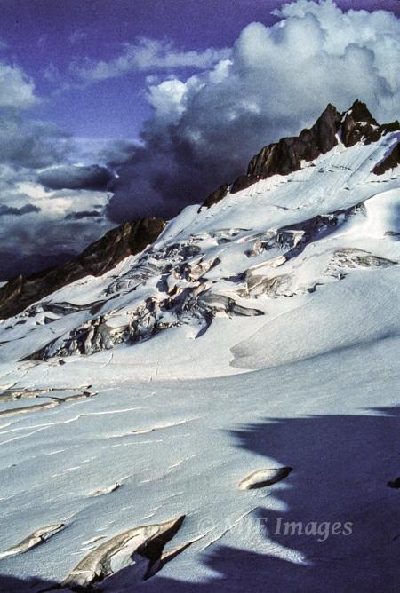 Glacier in Alaska, film.