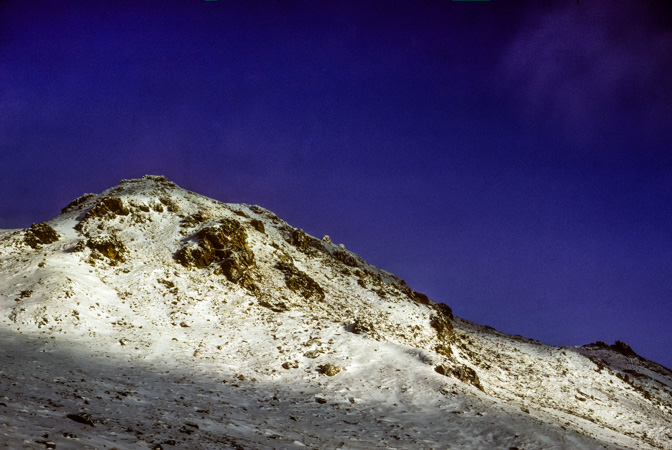 An unnamed peak my friend & I climbed and named broken-horn mtn for the dall mountain sheep we saw up there.