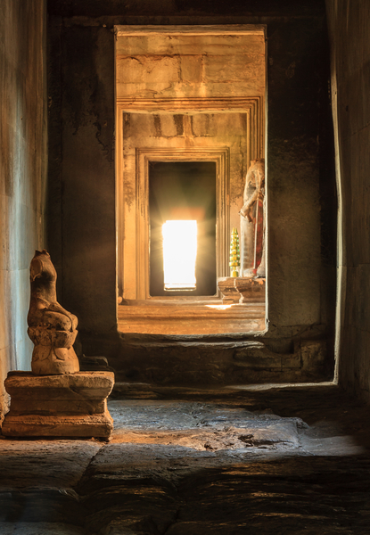 Angkor Wat, Cambodia:  this is a high contrast thus tricky exposure, all about the details in the dark (not brightest) areas.  Copyright MJF Images.  Click on image if interested in it.
