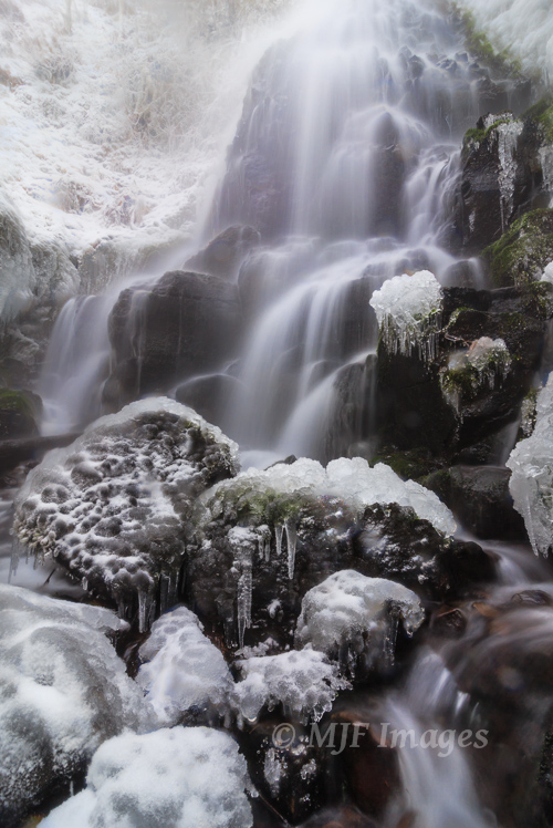 It is very hot where I am right now, so here's a shot of Oregon's Faery Falls in winter freeze.