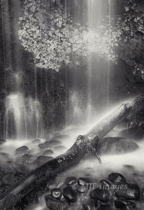 Small waterfall along Oregon's Sandy River.