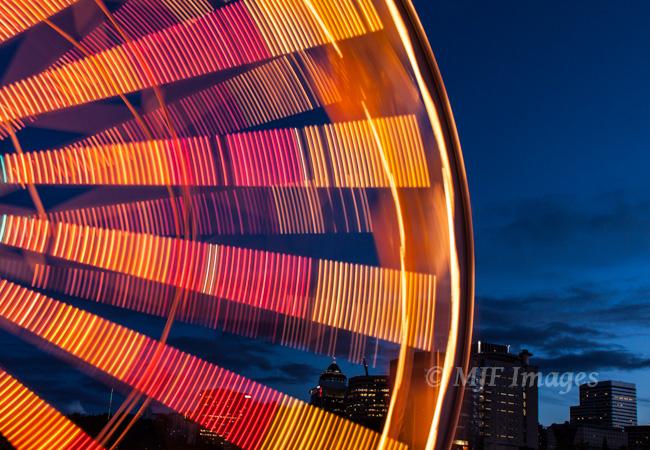 Ferris Wheel at the Portland Rose Festival, digital.