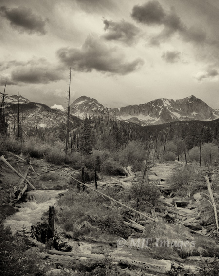 The terrain at Wild Basin includes this area that was subject to recent flash flooding.