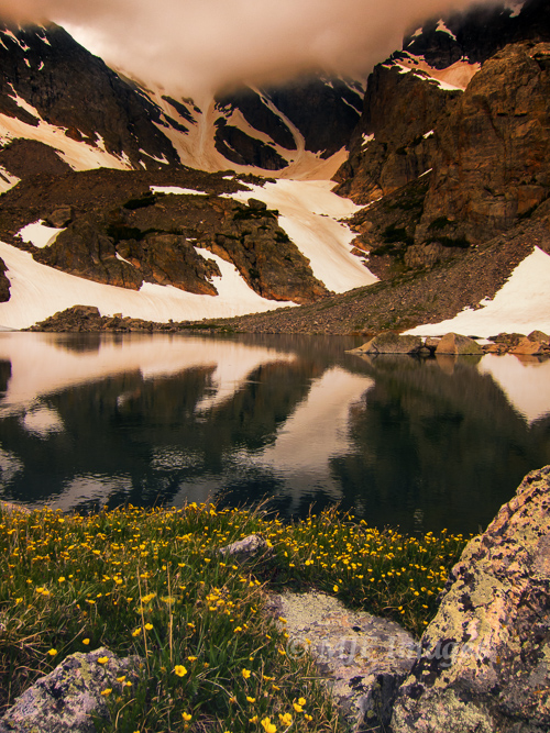 Sky Pond is a glacial tarn sitting high in Colorado's Rocky Mountains.