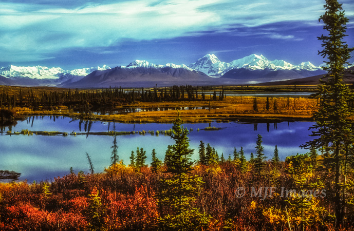 September along the Denali Hwy. provides colorful views of the eastern Alaska Range.