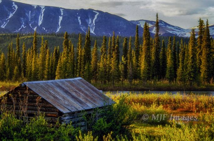 A cabin in remote bush of Alaska.