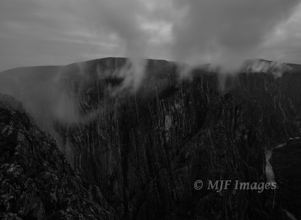 Black Canyon of the Gunnison just before dark, Colorado.