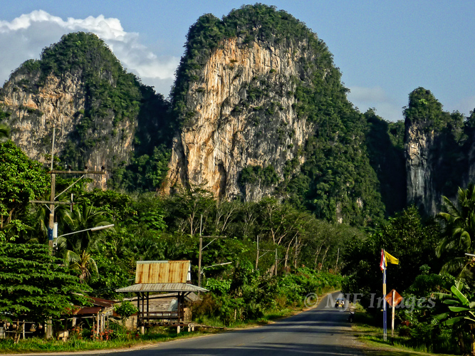 This classic karst terrain in southern Thailand is obvious because it is young.