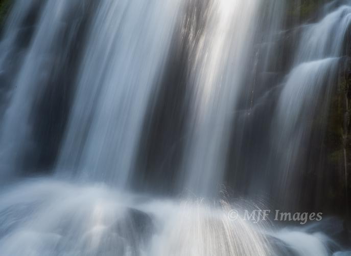 Close in to Tumalo Falls, Oregon.