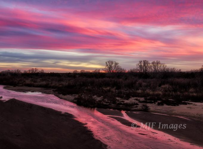 A recent sunset, Cimarron River.
