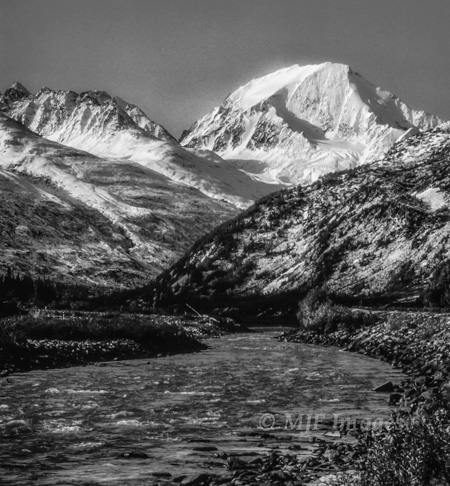 Mount Drum and the Copper River, Alaska
