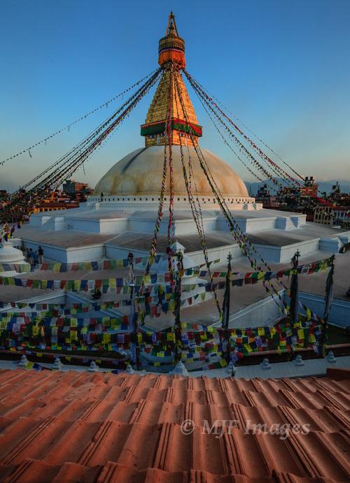 The great stupa at Boudhanath, near Kathmandu, Nepal.