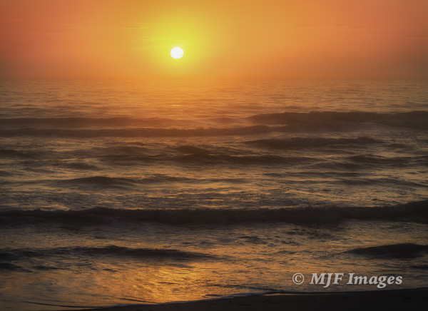 Sunrise over the Atlantic Coast of Florida.