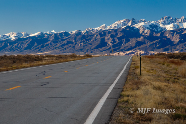 Although skies are clear, the subject here (Colorado's Sangre de Cristo Mountains) is dramatic enough to compensate.