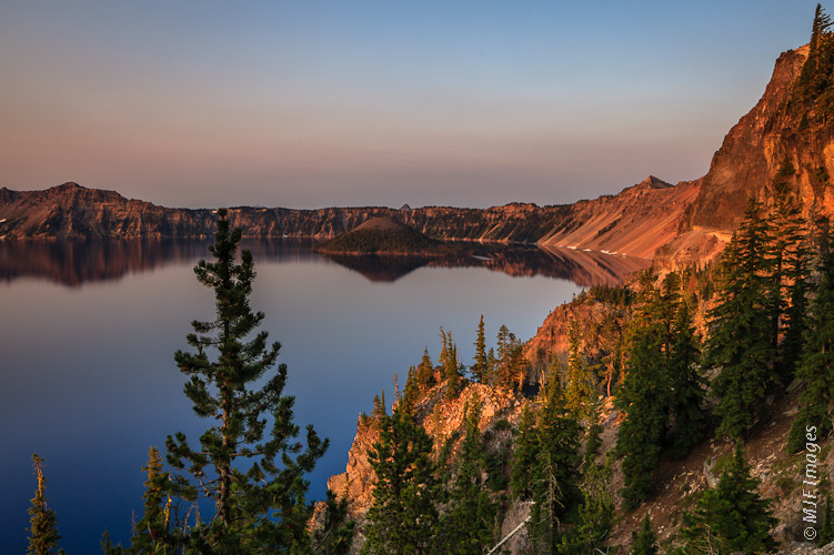 Crater Lake in August.