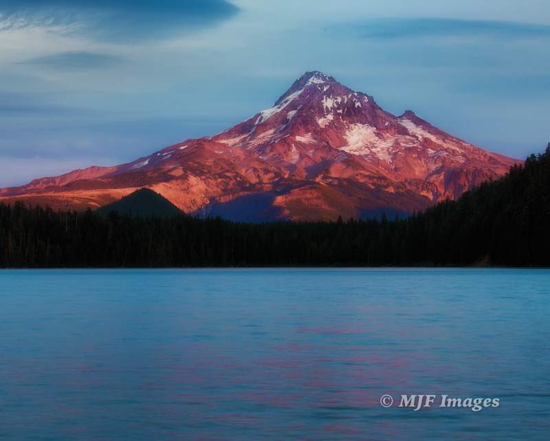 Mount Hood, Oregon, at sunset.