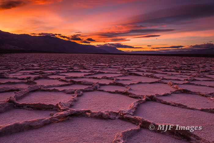 The salt flats in Death Valley form interesting polygonal patterns.