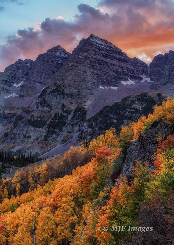 Maroon Bells, near Aspen, Colorado.