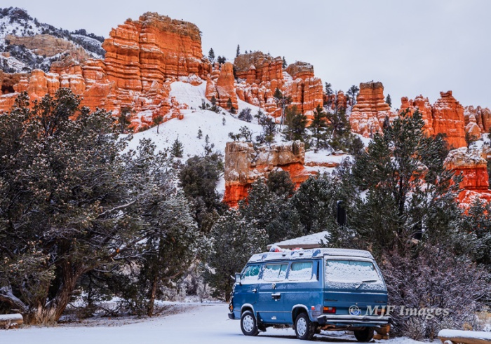 Winter's first snowfall: southern Utah.