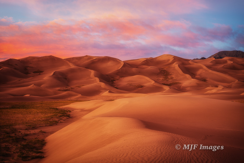And finally, a soft desert sunset at Great Sand Dunes, Colorado.