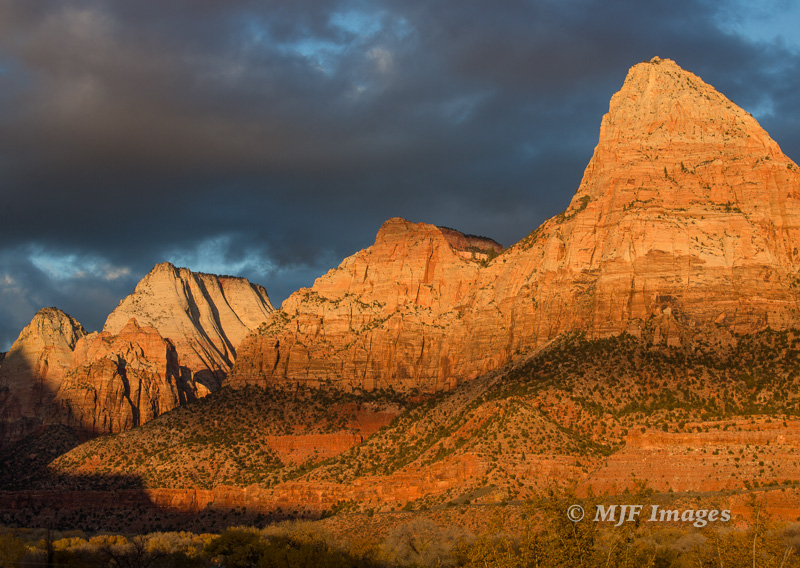 The entrance to Zion Canyon, Utah.