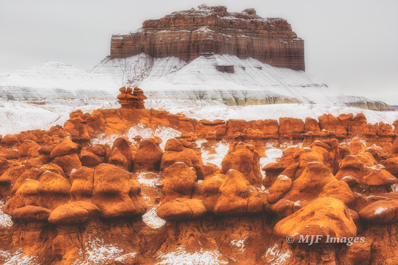The Goblins in snow, Utah.