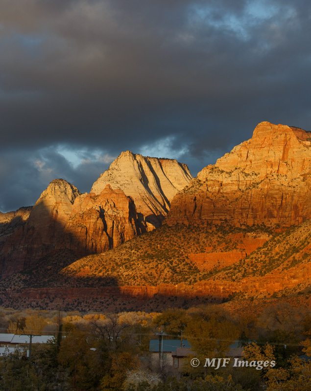 The town of Springdale at the entrance to Zion Canyon was founded by Mormon farmers in 1862.